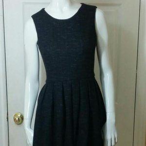 Aritzia Talula DarkGrey Pleated Dress with pockets